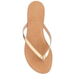 J.crew rio metallic sandals